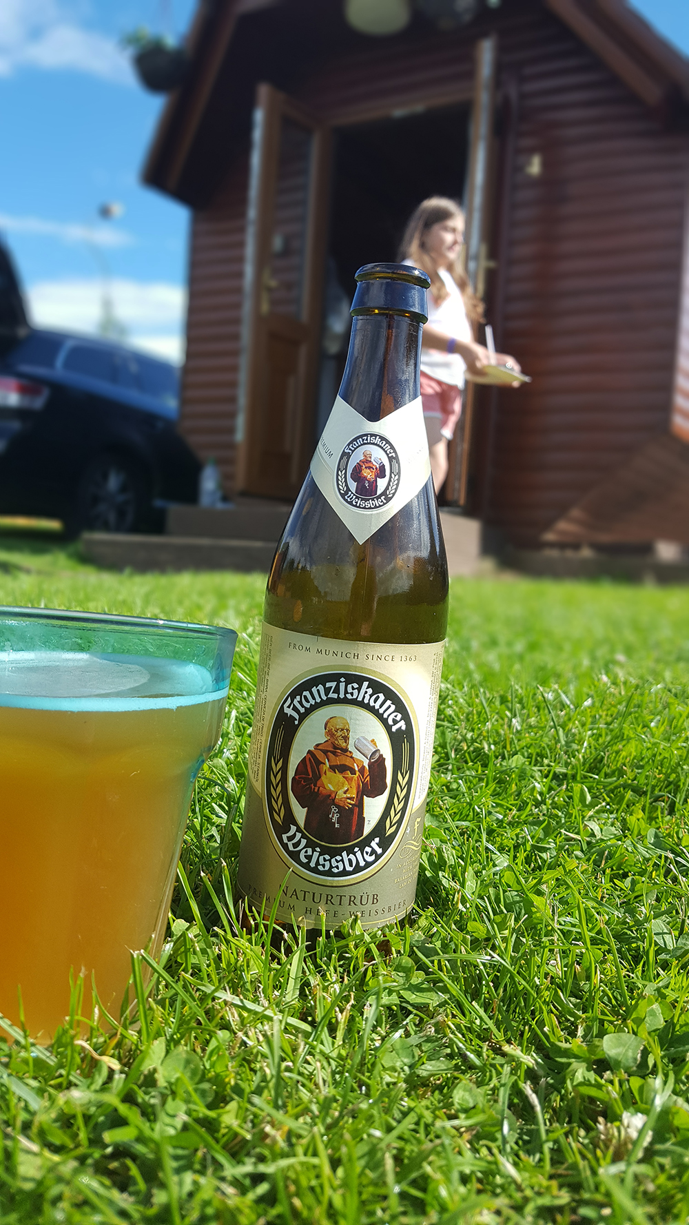 A well deserved cold lager
