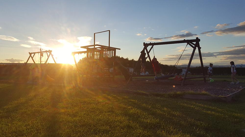 Kids playing till sunset